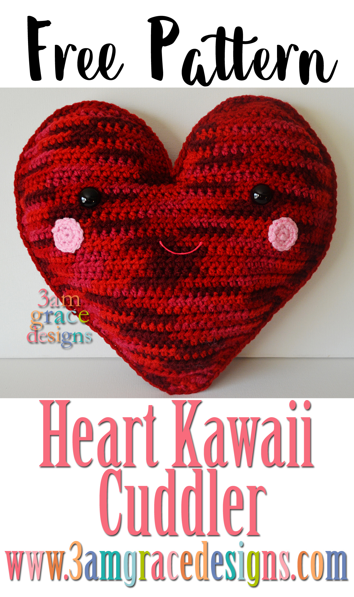 Heart Kawaii Cuddler™ | 3amgracedesigns