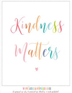 Kindness Giveaway & Free Printable