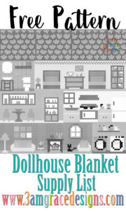 dollhouse afghan blanket c2c crochet pattern