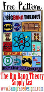 big bang theory crochet afghan spply list