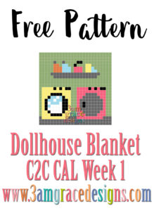 Dollhouse Blanket C2C CAL – Week 1