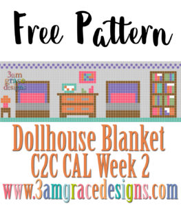 DOLLHOUSE BLANKET C2C CAL – WEEK 2