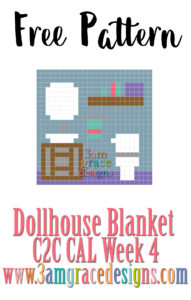 DOLLHOUSE BLANKET C2C CAL – WEEK 4