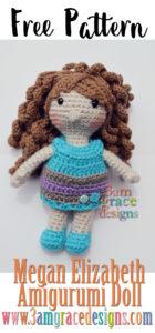Megan Elizabeth Amigurumi Doll