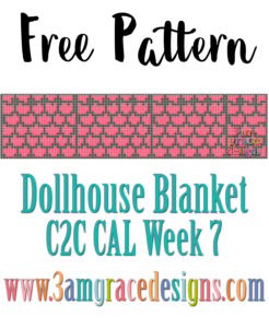DOLLHOUSE BLANKET C2C CAL – WEEK 7