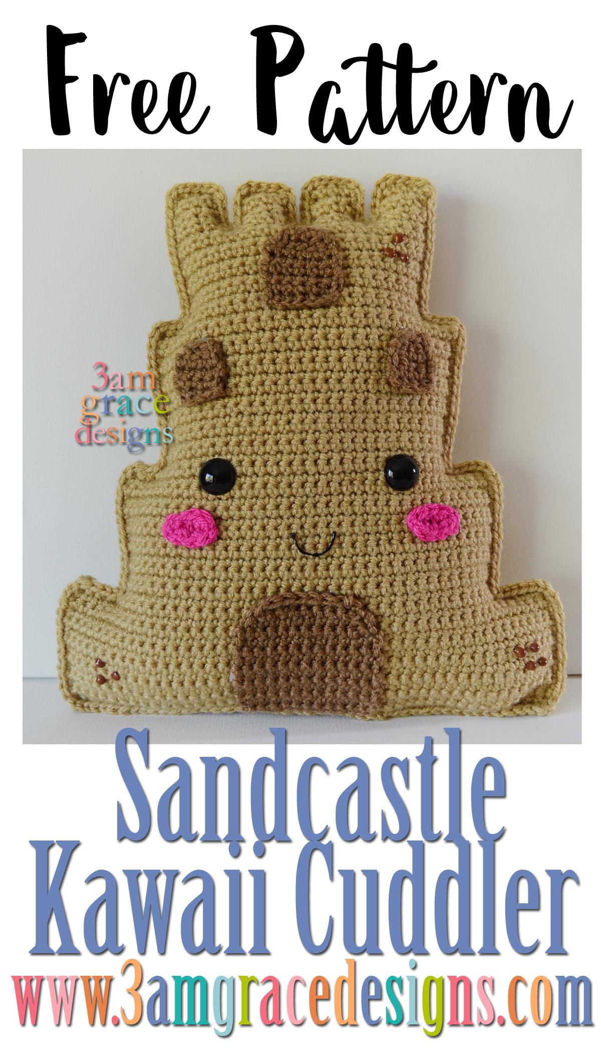 Sandcastle Kawaii Cuddler™ - Free Crochet Pattern | 3amgracedesigns