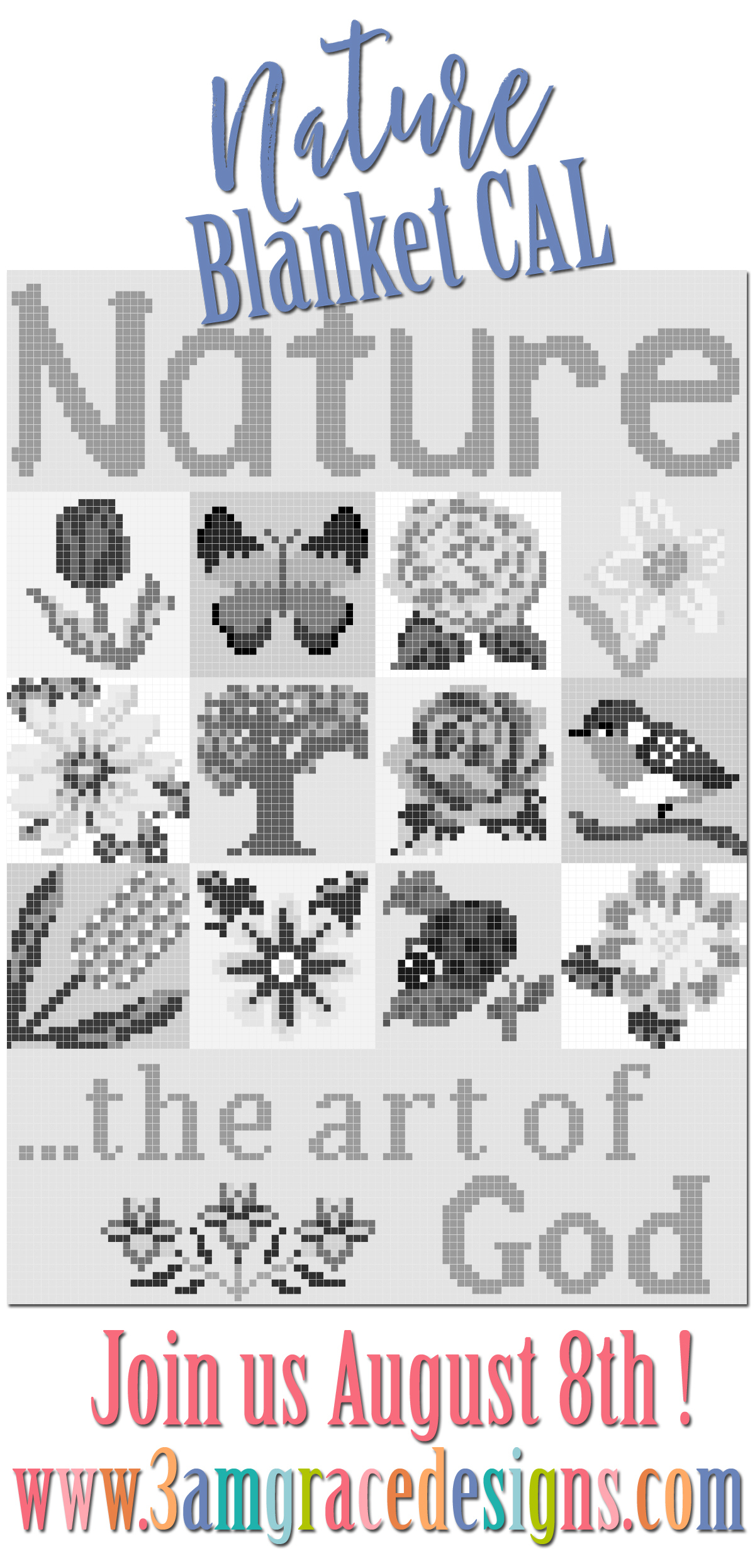 Nature Blanket Crochet-along! | 3amgracedesigns