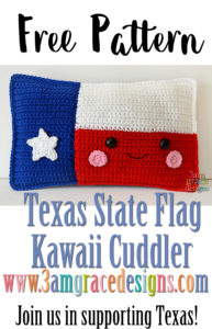Texas State Flag Kawaii Cuddler