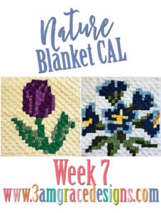 Nature Blanket C2C CAL – Week 7