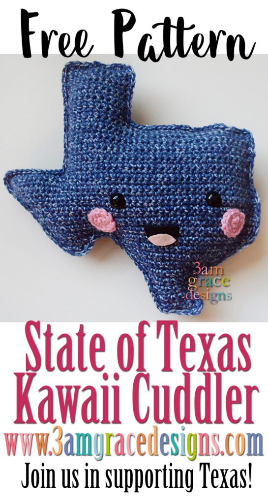 State Of Texas Kawaii Cuddler Free Crochet Pattern 3amgracedesigns