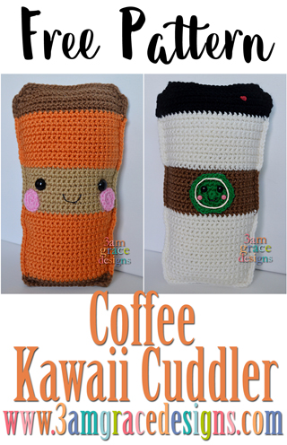 Free crochet coffee cup amigurumi pattern can be made into a pumpkin spice latte or a traditional Starbucks coffee cup.