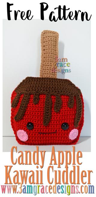 Free Crochet Pattern: How to crochet a happy little apple ... | 654x320