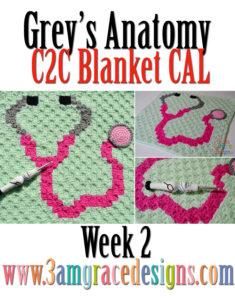 Grey's Anatomy C2C CAL – Week 2