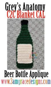 Grey's Anatomy C2C CAL – Beer Bottle Applique