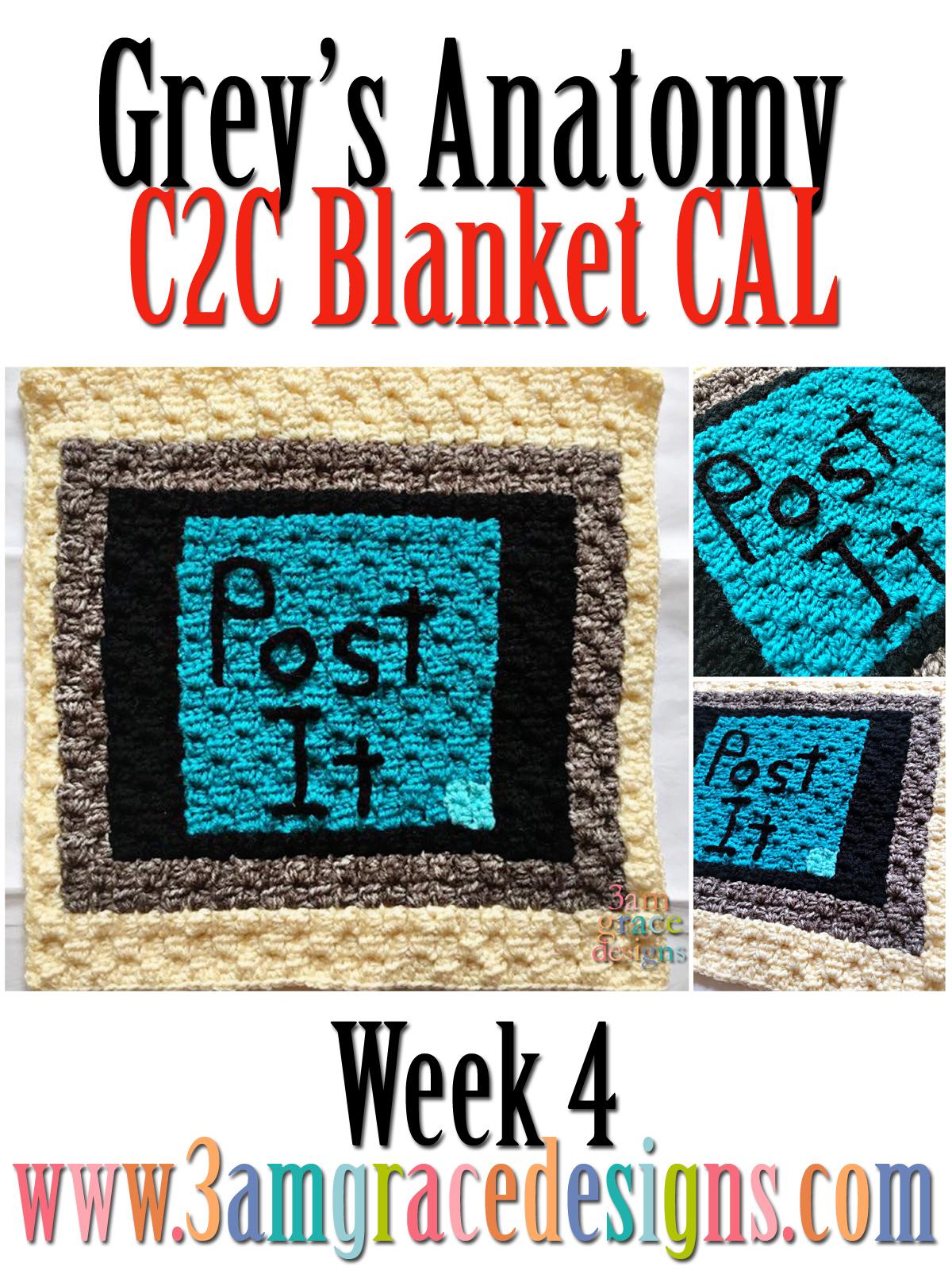 Greys Anatomy C2c Cal Week 4 Free Crochet Pattern 3amgracedesigns