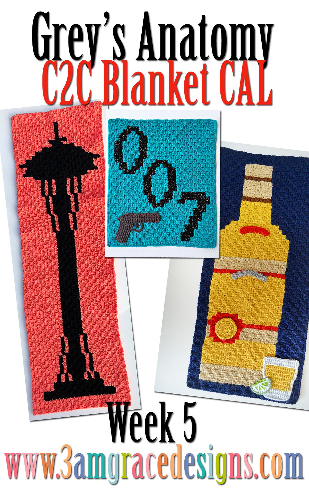 Greys Anatomy C2c Cal Week 5 Free Crochet Pattern 3amgracedesigns