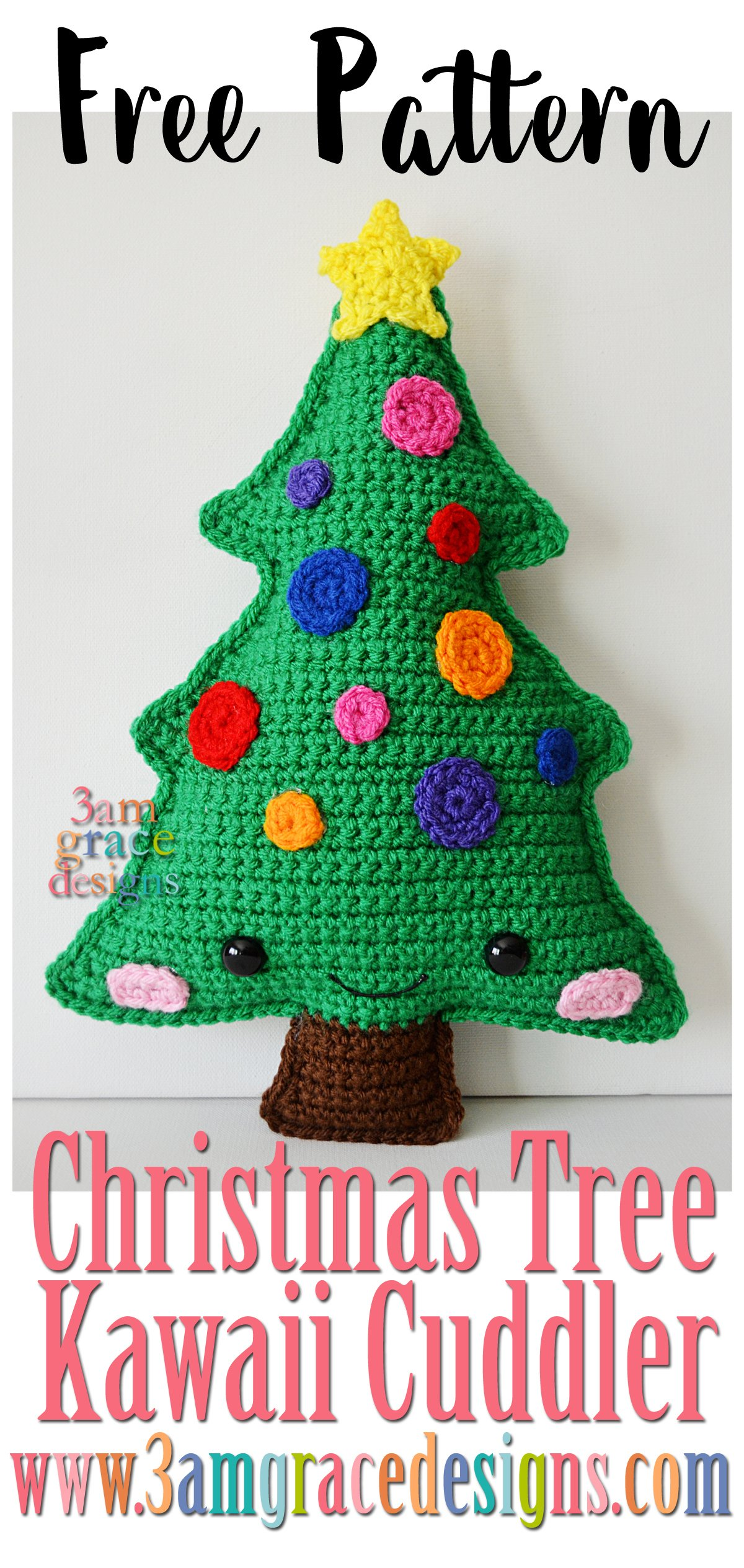 Christmas tree kawaii cuddler 3amgracedesigns we had the honor of being a contributor for ashleigh from sewrella ashleigh is a fabulous crochet designer and an all around sweetheart bankloansurffo Choice Image