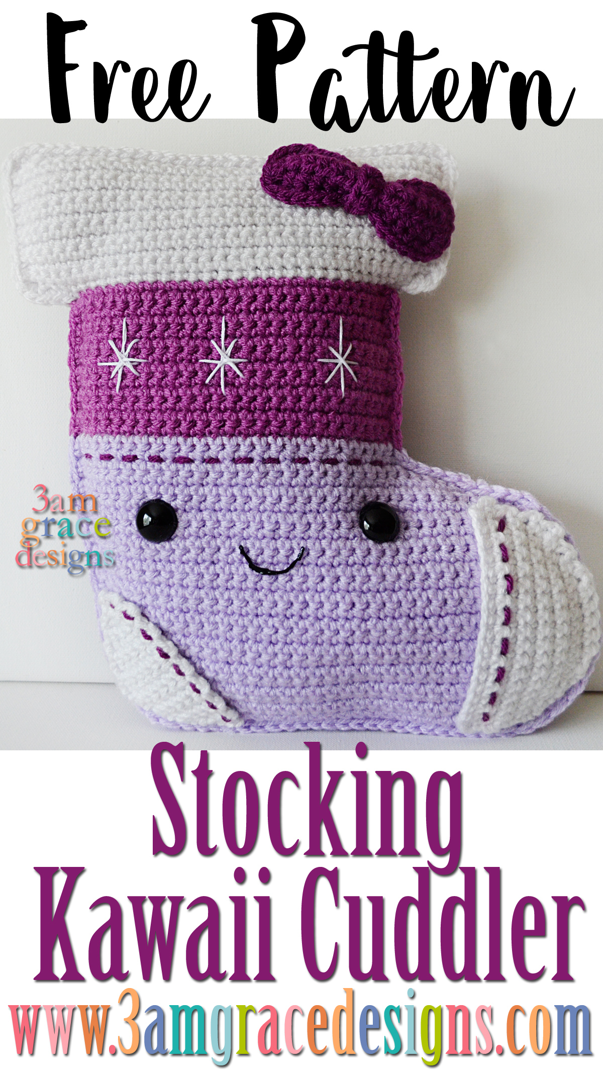 Our free Christmas Stocking crochet pattern is an easy amigurumi design for the holidays!