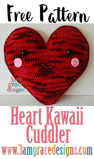 Our free amigurumi crochet heart pattern is a perfect pillow! Our tutorial is easy to follow with an adorable end result.