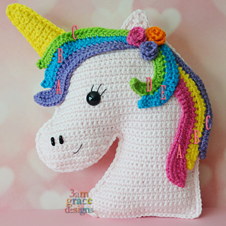 Rainbow Cuddles Crochet Unicorn Pattern - One Dog Woof   320x320