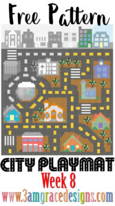 city road map crochet blanket