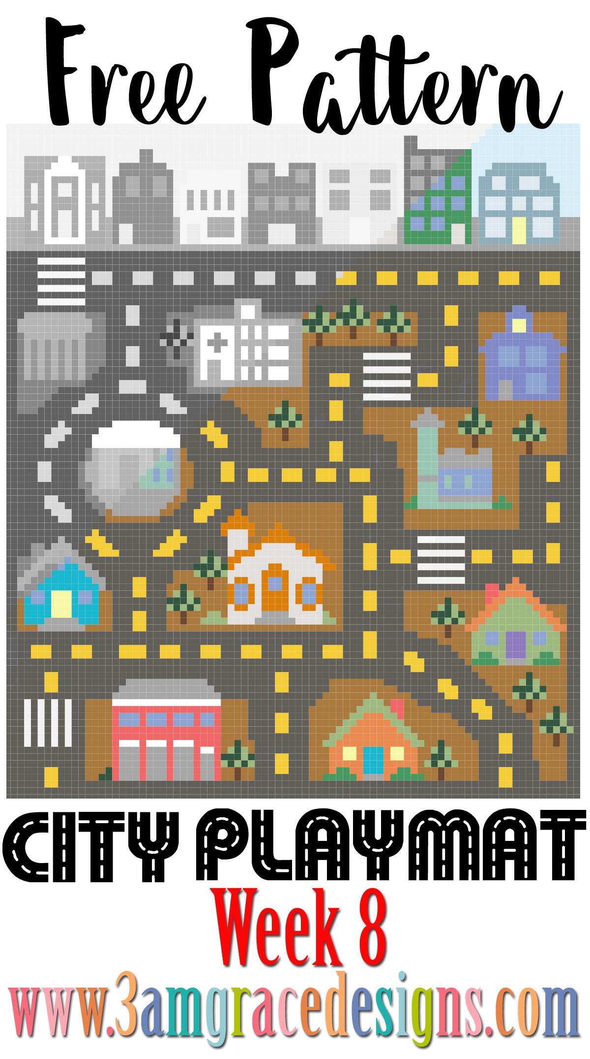 City Play Mat C2c Cal Week 8 Free Crochet Pattern 3amgracedesigns