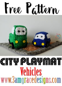 car truck amigurumi city play mat crochet pattern
