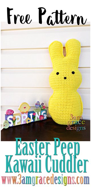 Our free easter bunny peep crochet pattern is a fun addition to your decor this spring!