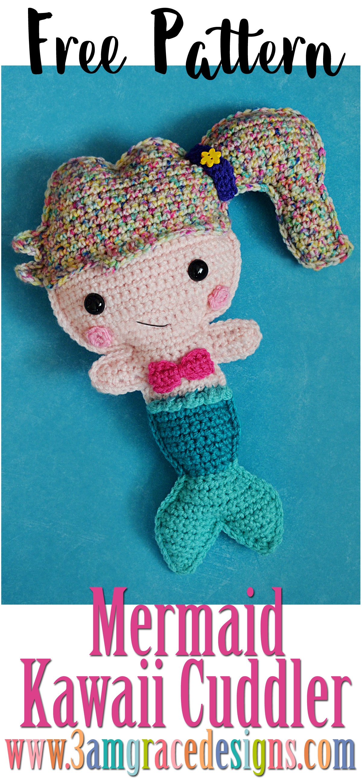 free mermaid crochet pattern amigurumi