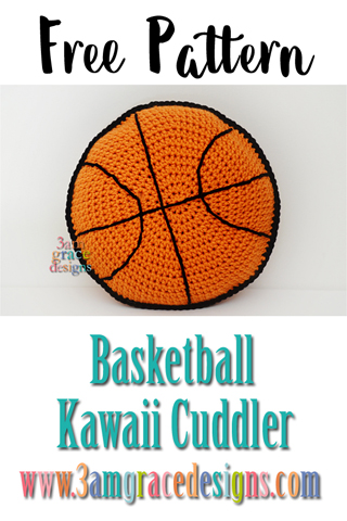 Our free basketball kawaii cuddler crochet pattern is a perfect pillow for the sport lover in your life.