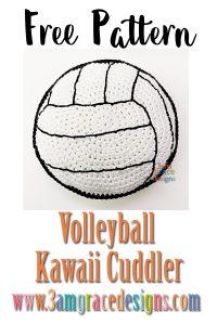 volleyball kawai cuddler crochet amigurumi pattern ragdoll ragdoll