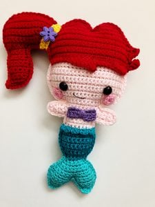 Free Mermaid Crochet Pattern - Red Ted Art - Make crafting with ... | 300x225