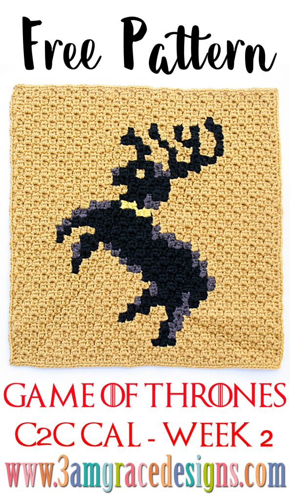 Games of Thrones C2C CAL - Week 2 - Free Crochet Pattern