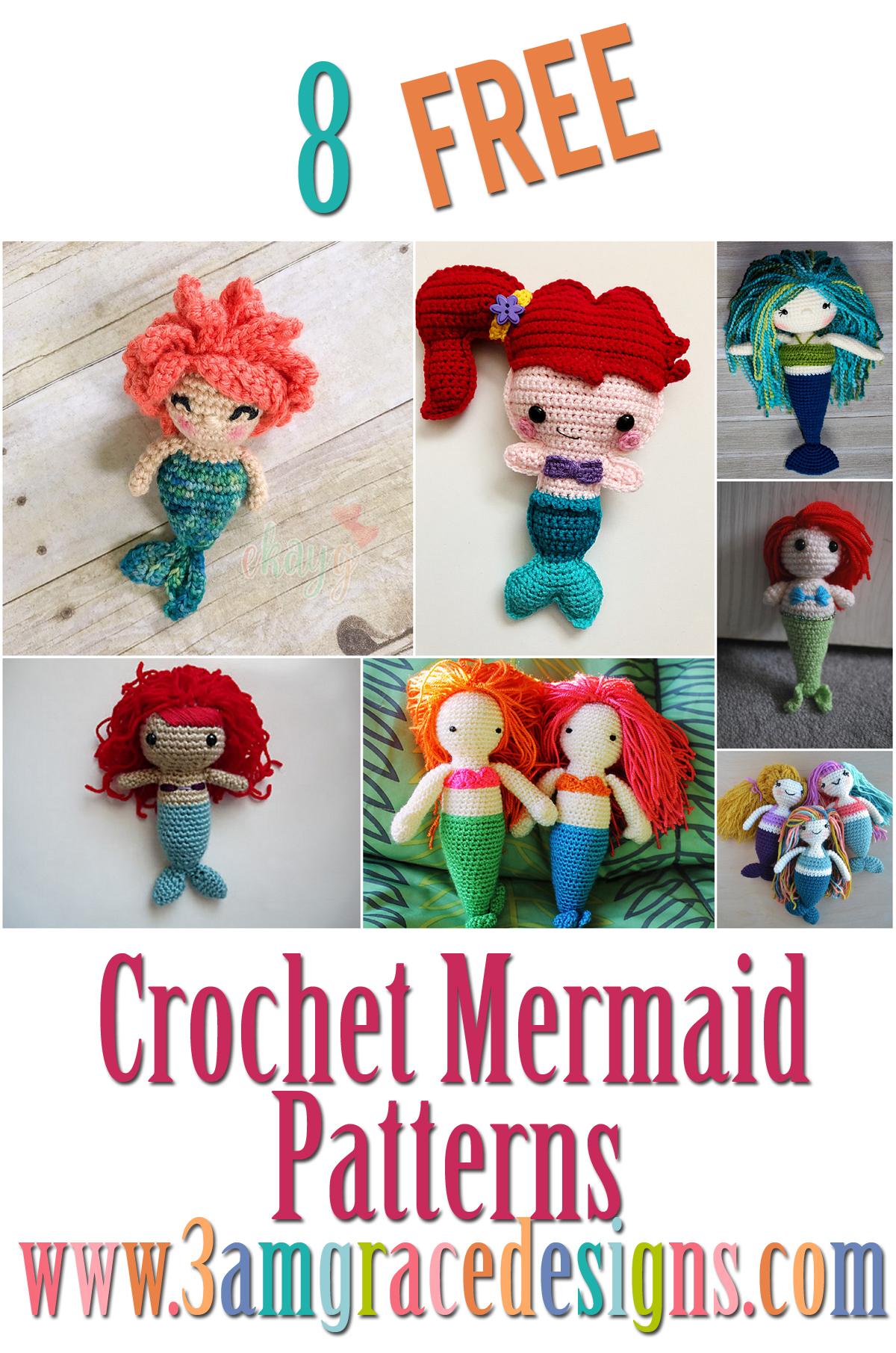 Crochet Roundup Free Mermaid Amigurumi Patterns 3amgracedesigns