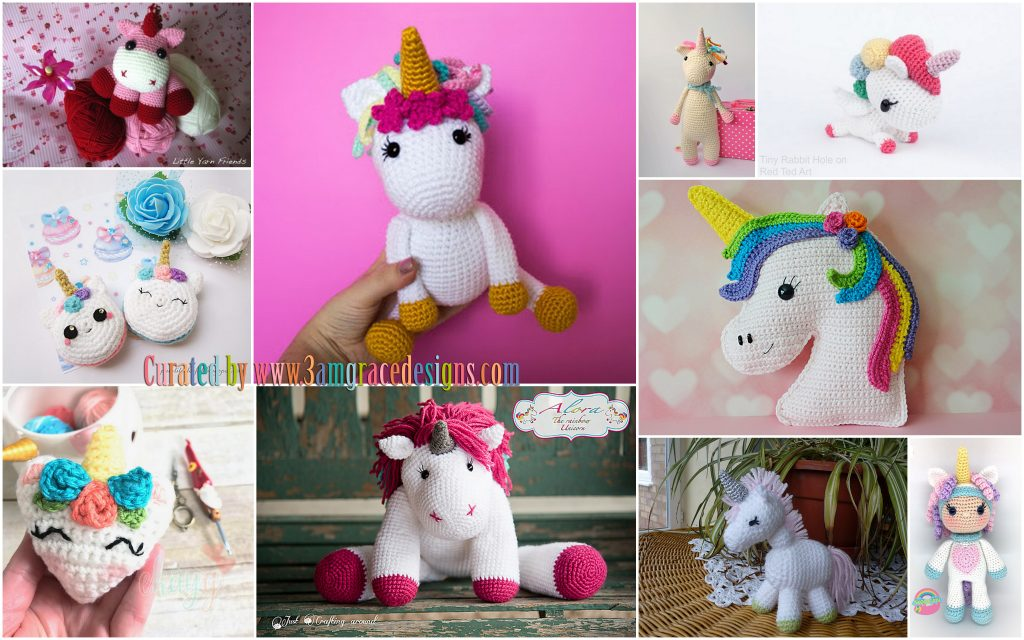 20 Most Amazing Unicorn Amigurumi Patterns | Crochet Arcade | 640x1024