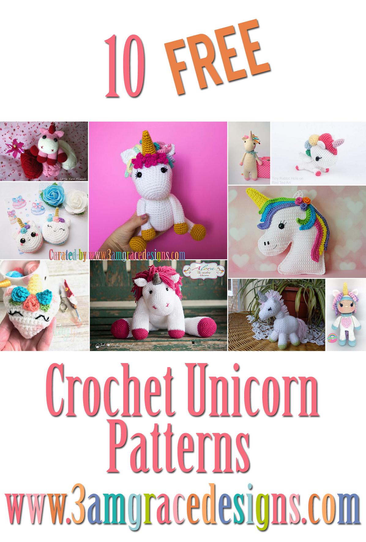 Crochet Unicorn Mermaid Amigurumi - Free Pattern (avec images) | Tricot et  crochet, Jouets au crochet, Tricot facile | 1772x1196