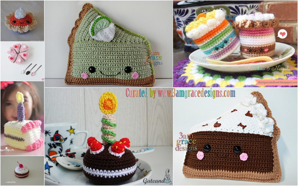 Crochet Roundup Free Cake Pie Patterns 3amgracedesigns