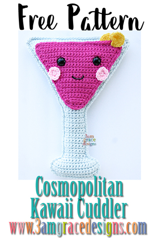 Free Cosmopolitan crochet pattern pillow compliments our Happy Hour pillow collection.