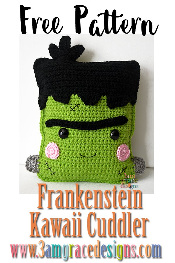 Frankenstein Kawaii Cuddler Free Crochet Pattern 3amgracedesigns