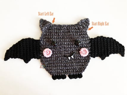 Bat crochet pattern amigurumi bat pattern crochet bat | Etsy | 320x427