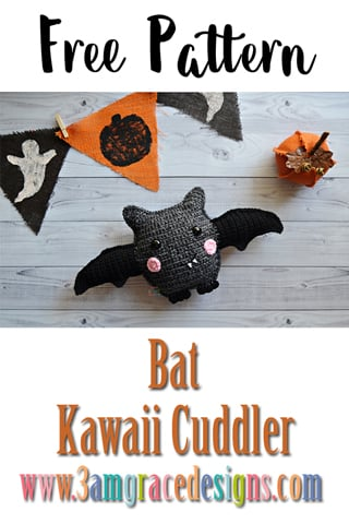 ♥ Free Pattern; Bat Amigurumi - Delinlea - My little fantasy world | 480x320