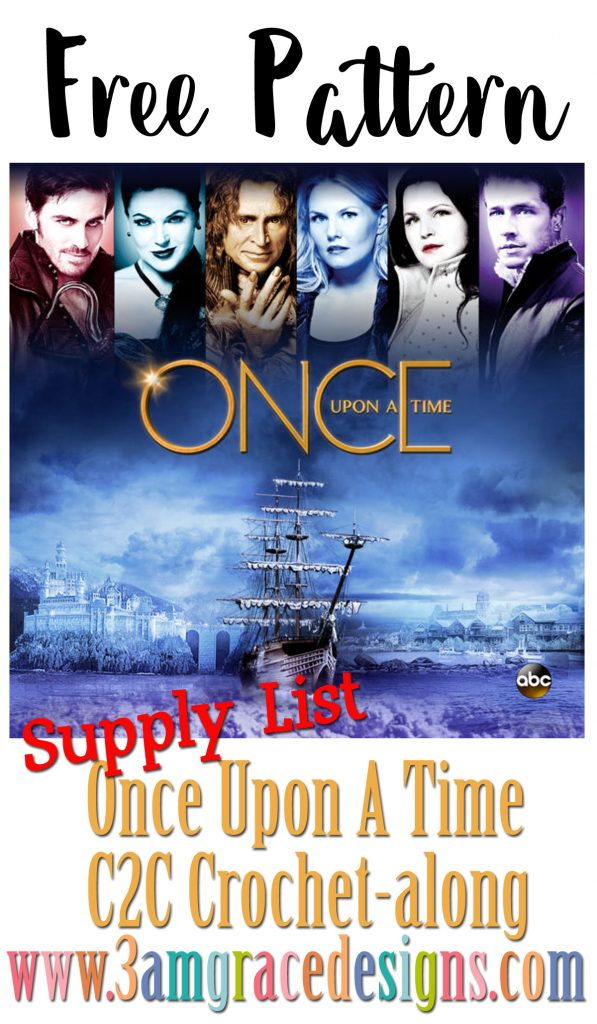 The Supply List for our Once Upon A Time C2C Crochet pattern & Tutorial to create a themed blanket for the hit show!
