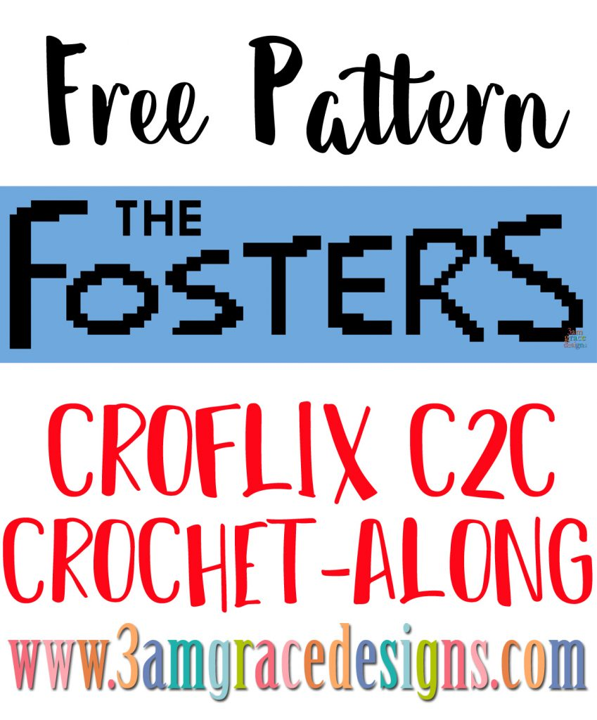 The Fosters C2C crochet pattern & tutorial to create an graphgan blanket! The panel is part of our Croflix project.