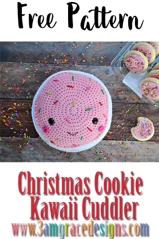 Our free Christmas Cookie crochet pattern makes an easy decoration or gift idea this season!