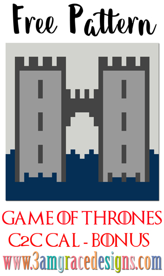 Free Game of Thrones House Frey C2C crochet pattern & tutorial for our Graphgan blanket.