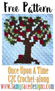 Once Upon A Time C2C CAL – Week 3 – Free Crochet Pattern