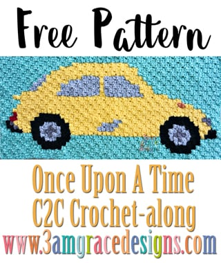 Once Upon A Time C2C CAL - Week 4 - Free Crochet Pattern
