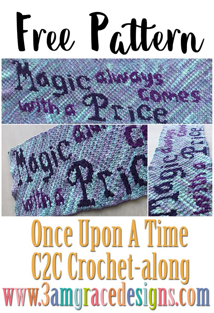 Once Upon A Time C2C crochet pattern & tutorial for our Graphgan! Magic Always Comes With a Price & A Bonus panel!