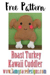 Roast Turkey Kawaii Cuddler™ – Free Crochet Pattern