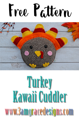 Our free turkey crochet pattern is perfect for Thanksgiving! The new addition to our kawaii cuddler line is the sweetest amigurumi design.